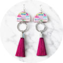 rainbow tassel earrings DANCER design NEXT ROMANCE unique jewellery australia