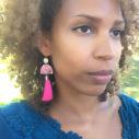 pink rose wedding tassel earrings Mariama next romance jewellery australia