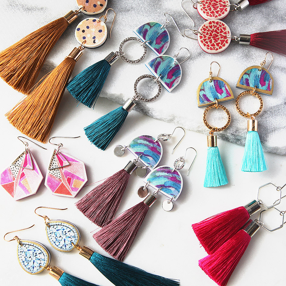 unique tassel earrings available at www.nextromance.com.au and Handmade Canberra Market THIS MONTH!!! March 2018