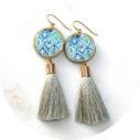 green bali byron tassel earrings NeXT ROMANCE jewellery melbourne vicki leigh