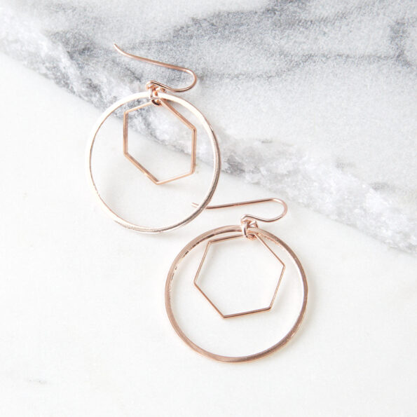 hex and hoop combo earrings geo fine next romance design australia