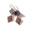 rose gold and black marble earrings next romance jewellery australia vicki leigh