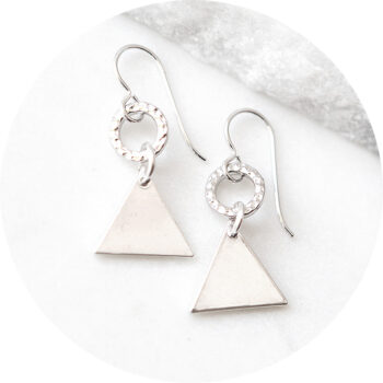 triangle geometric dance earrings NEXT ROMANCE dancer style fashion funky unique jewellery australia