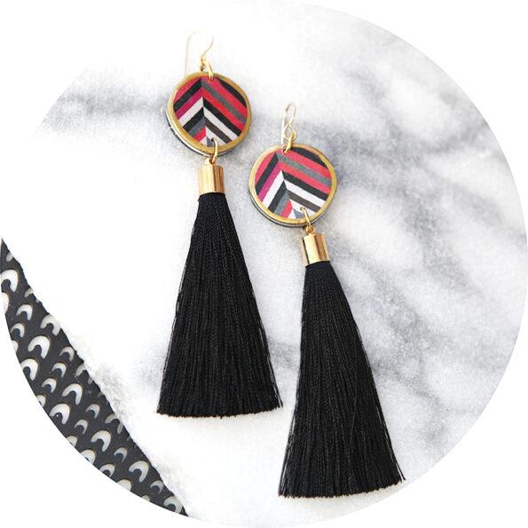 DEVOI tassel earrings long black or red NEXT ROMANCE AW18.JPG