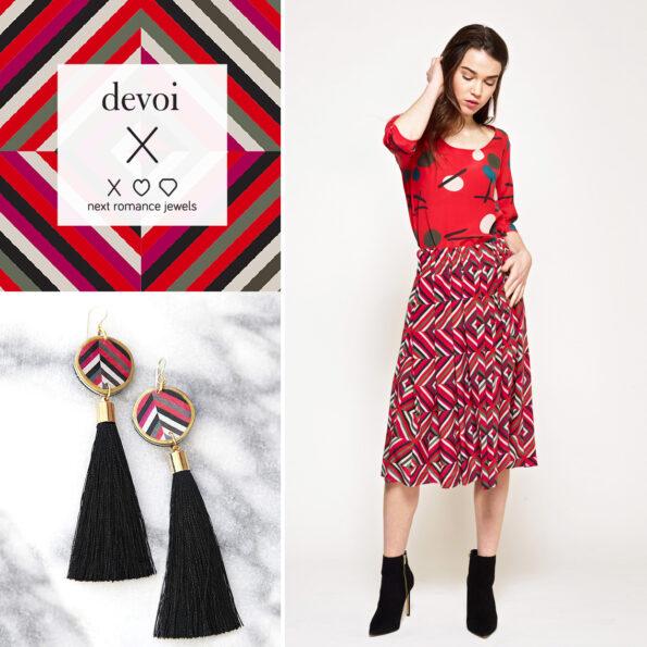 AW18 DEVOI tassel art earrings – choose tassel colour and length
