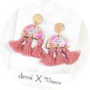 cygnus devoi half moon earrings triple tassel pink gold next romance jewellery australian
