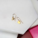 golden hearts tiny dangle minimal modern stylish Next Romance jewels