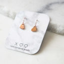 heart modern earrings rose gold next romance jewellery australia