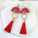 sticks and stones dancer tassel earrings NEXT ROMANCE x devoi collab Australia