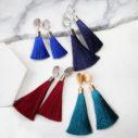 tassel clip on earrings silky hammered clasp australian design