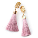 tassel clip on earrings silky thick hammered clasp australian design