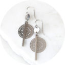 coin bar cathedral silver funky earrings Next Romance Jewels