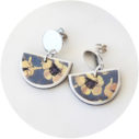 devoi half moon art earrings studs Next Romance Jewellery Australia