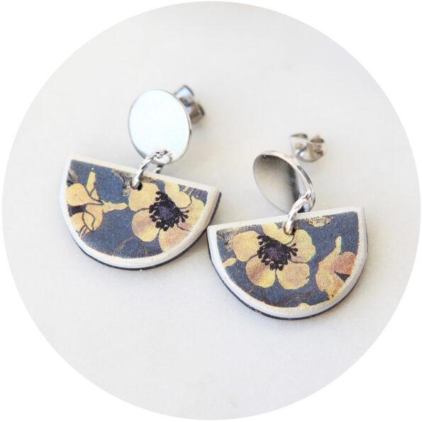 AW18 DEVOI little moon ART stud earrings – Nemophily Grey