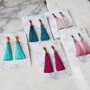 stud hammered tassel earrings australia next romance jewellery tassel earrings australian design next romance melbourne