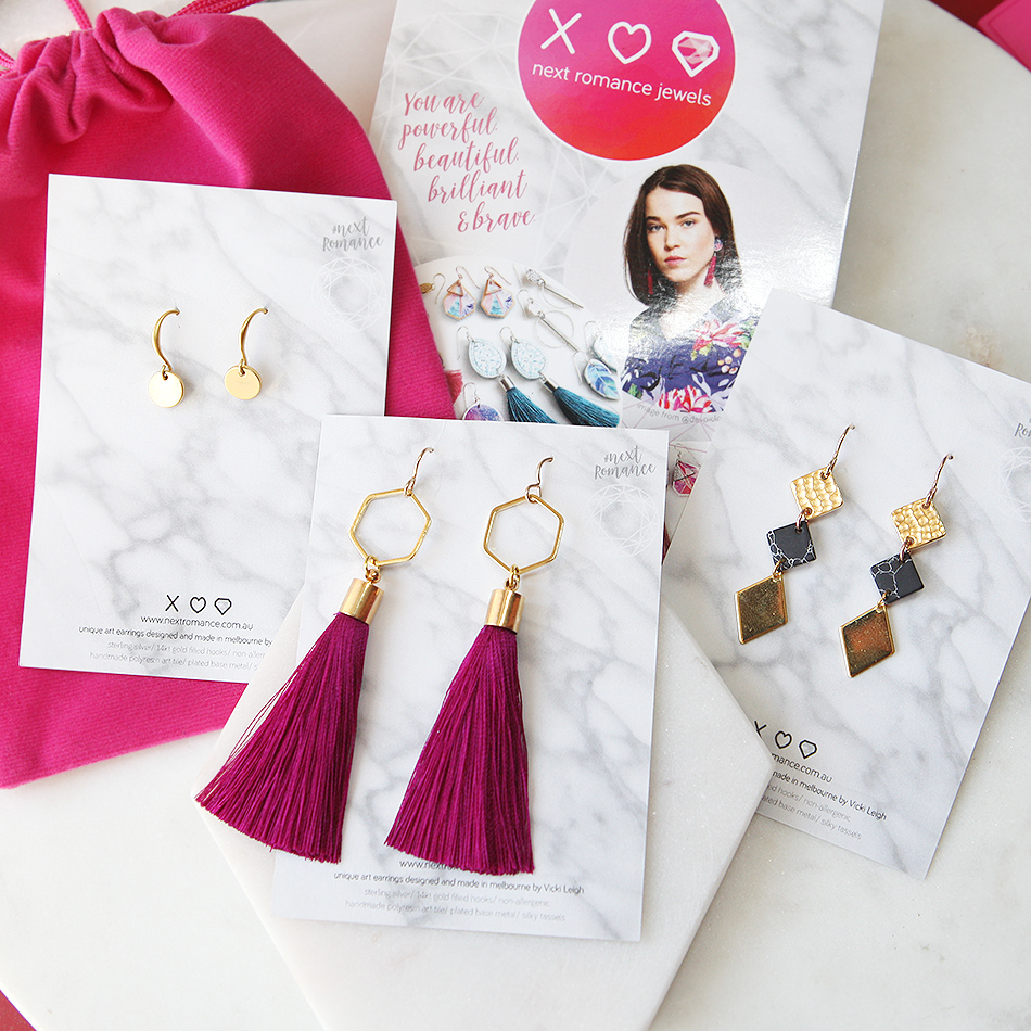 Next Romance gold earring set by Vicki Leigh May