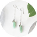 green jade mini hex pendulum earrings silver next romance art unique jewellery handmade in australia