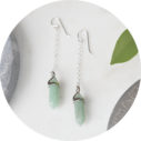 green mini hex pendulum earrings silver next romance art unique jewellery handmade in australia