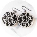 Black ziggy dot earrings next romance australian jewellery
