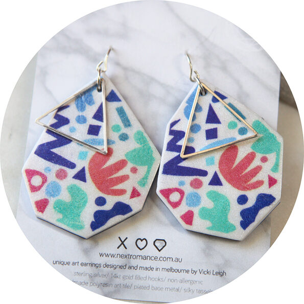 matisse dot ziggy earrings