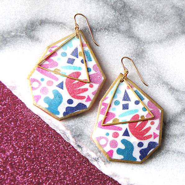 ziggy geo triangle art earrings mattisse NEXT ROMANCE JEWELS F2K