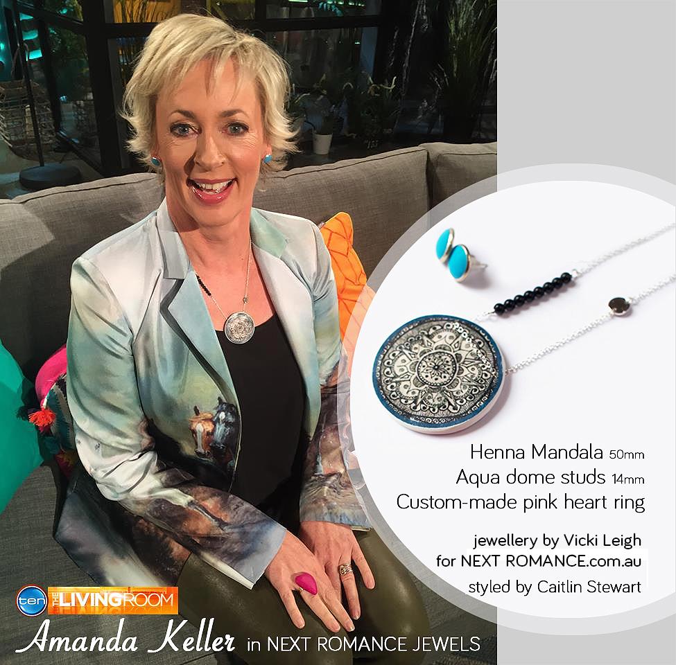 Amanda Keller wearing NEXT ROMANCE JEWELS sydney