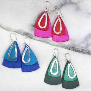 colour pop triangle 3layeres earrings next romance
