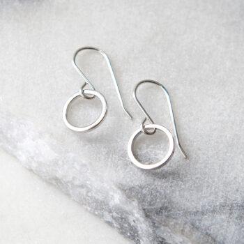 mini loop hoop earrings silver modern next romance jewellery