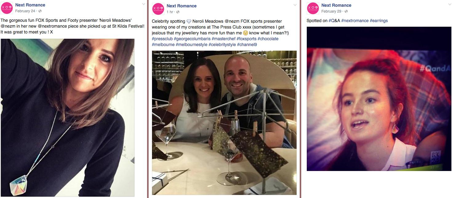 neroli next romance jewellery social media 2016