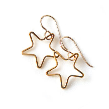 star line gold funky earrings by next romance jewellery designs melbourne australia