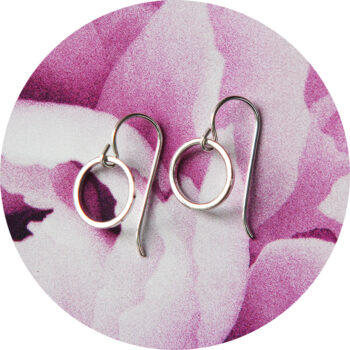teeny hoop front facing earrings silver gold rose next romance jewellery sydney australia.jpg