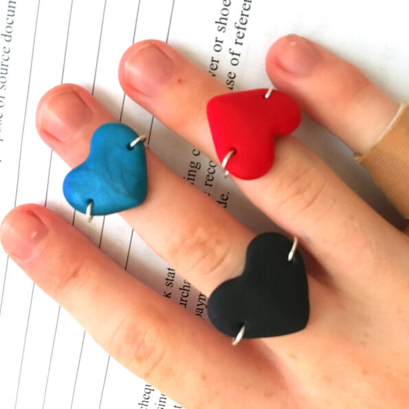 heart valentine rings silver wire style NEXT ROMANCE jewellery australia
