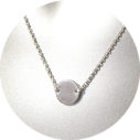 10mm coin necklace geo CROP modern fine NEXT ROMANCE sterling silver chain