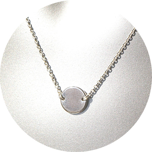 COIN simple geometric necklace – sterling silver chain