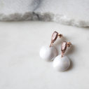 Pearlescence bubble pearl hammered studs NEXT ROMANCE jewellery australia earrings