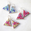 Papel Picado Fiesta triangle earrings NEXT ROMANCE jewellery craft victoria australia