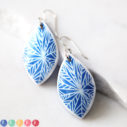 next romance jewellery australia all blue snowflake marquis art earrings polyresin tile