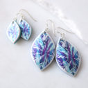next romance jewellery australia blue snowflake marquis art earrings polyresin tile