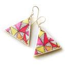 Papel Picado Fiesta triangle earrings NEXT ROMANCE jewellery craft victoria australia