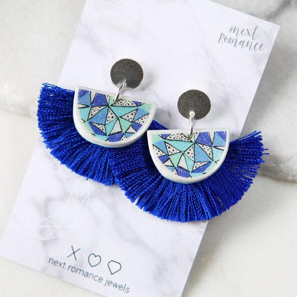 _PAPEL fiesta MOON unique art earrings – TASSELS next romance jewellery