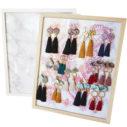 large white wood plain bling board frame Next romance earring organiser