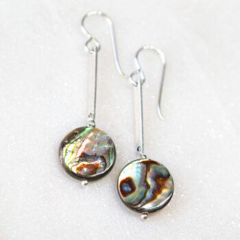 paua shell lollipop drop earrings NEXT ROMANCE jewellery