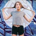 Blue graffiti girl instagram-story