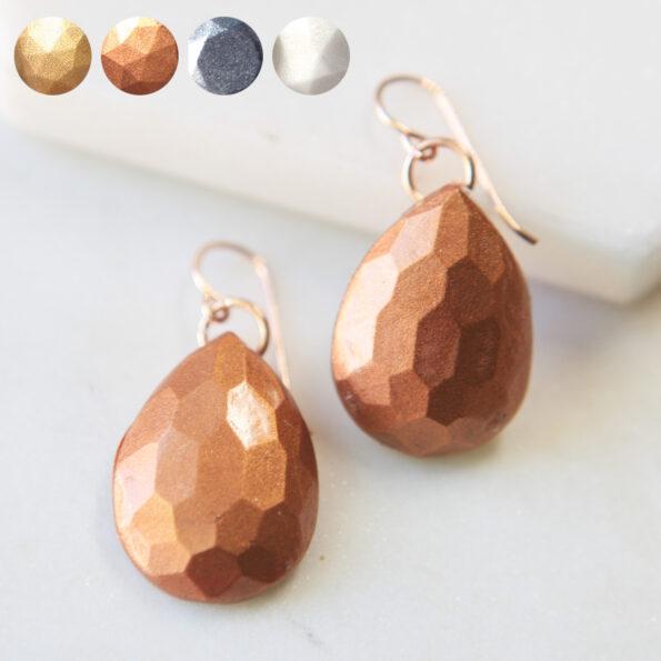 mica teardrop gem earrings all variations next romance faceted
