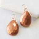 mica teardrop gem earrings poc project copper next romance faceted