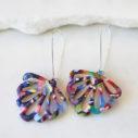 rainbow butterfly flower earrings long hooks next romance jewellery australia