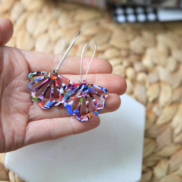 colourful resin butterfly earrings long drop unique next romance jewellery australia.jpg