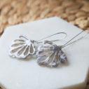 grey marble resin butterfly earrings long drop unique next romance jewellery