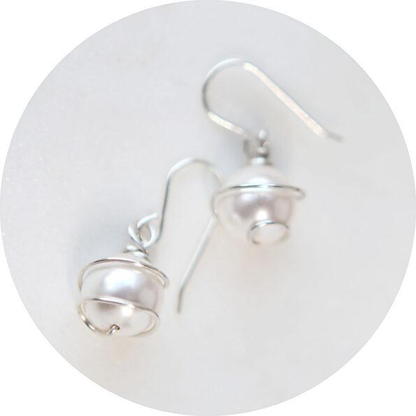 _  Pearl WRAP earrings – swarovski and sterling silver