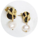 wavy stud pearl earrfings NEXT ROMANCE jewellery melbourne